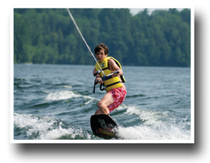 wakeboarding at golf camp